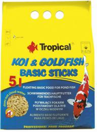 TROPICAL-POND Koi-Goldfish Basic sticks 5L