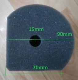 Molitan Filtraèní 90x90x150 mm vypouklý
