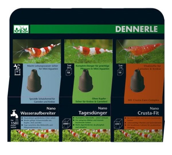 Dennerle Dennerle Nano set k péči o vodu 3 x 15 ml