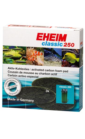 EHEIM GmbH amp; Co. KG EHEIM FILTRAČNÍ VATA S AKTIVNÍM UHLÍM PRO FILTR EHEIM 2211 3 KS