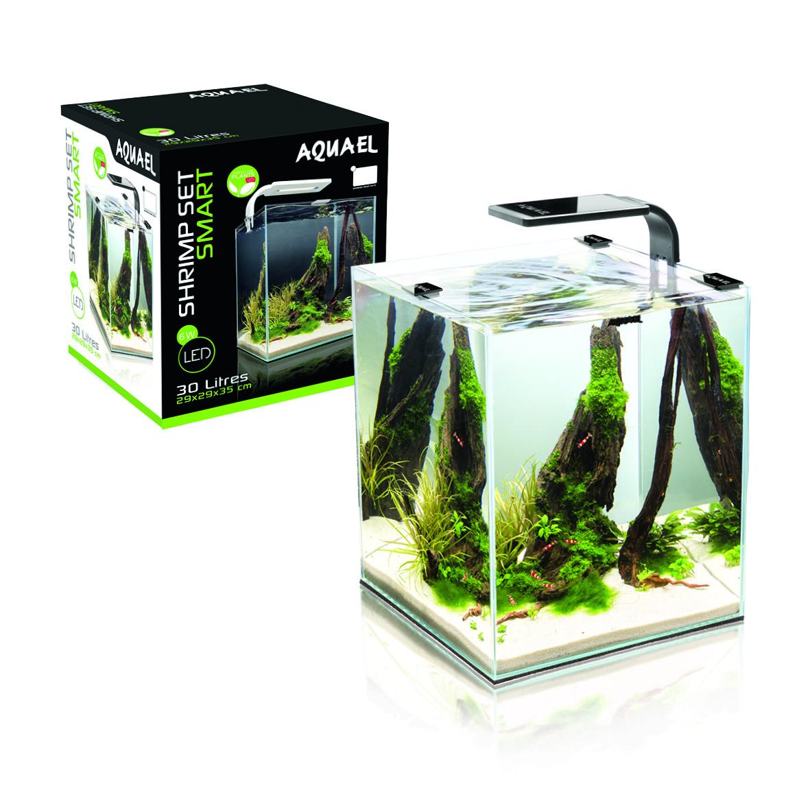 Fotografie Aquael AQUAEL Shrimp Smart akvarijní set, bílá, 10 l