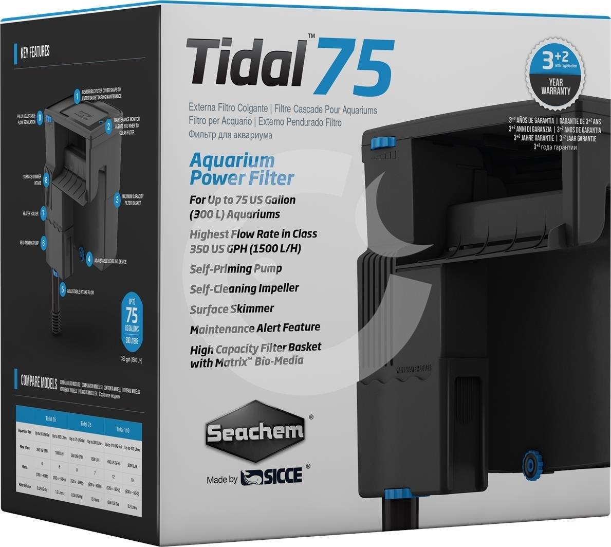 Seachem SEACHEM Vnější filtr TIDAL 75, 1500 l/hod